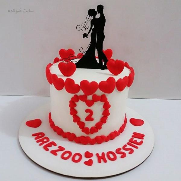 مدل کیک سالگرد ازدواج