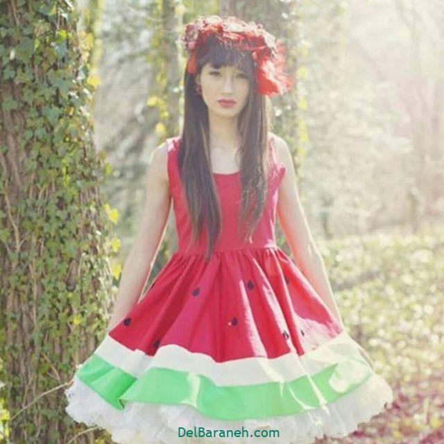 لباس شب یلدا دخترانه با نمد