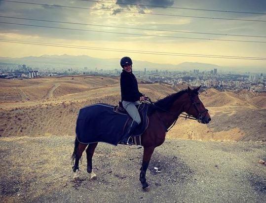اسب سواری سارا بهرامی +تصویر