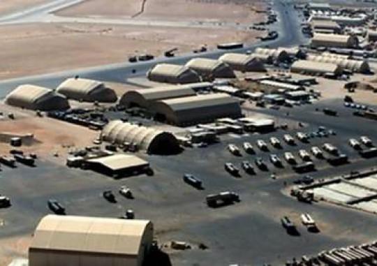 لحظه برخورد موشک های ایران به پایگاه عین الاسد آمریکا در عراق
